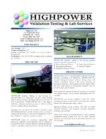 HIGHPOWER Validation Testing & Lab Services Inc.