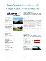 Badger Color Concentrates, Inc.