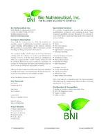 Bio Nutraceutical, Inc.